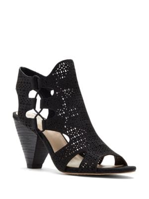 Eadon Perforated Leather Sandals by Vince Camuto