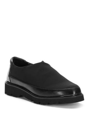 Carly Mixed Texture Loafers by Donald J Pliner