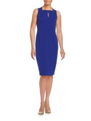 Squareneck Sheath Dress by Calvin Klein