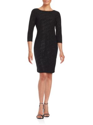 Asymmetrical Sparkle Embellished Dress by Calvin Klein