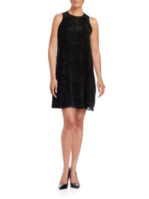 Velvet Geometric Sleeveless Dress by Calvin Klein