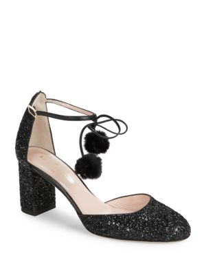 Abigail Ankle-Gtrap Glitter Shoes by Kate Spade New York