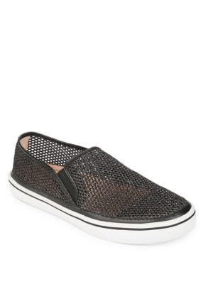 Sallie Glitter Mesh Slip-On Sneakers by Kate Spade New York