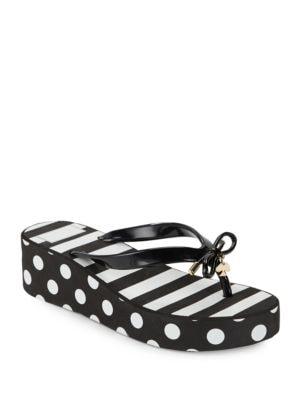Rhett Striped and Polka Flip Flops by Kate Spade New York