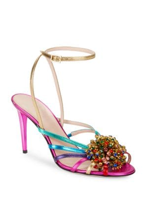Isabella Sequin Embellished Strappy Sandals by Kate Spade New York