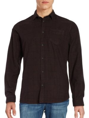 Elliot Button Front Flannel Shirt by Selected Homme