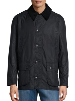 Ashby Waxed Corduroy-Trim Jacket by Barbour