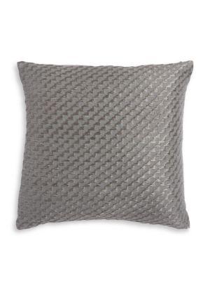 Alpine Meadow Geometric Embroidered Twill Decorative Pillow