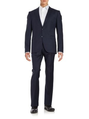 Wool Plaid Suit by Hugo