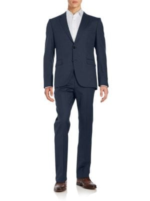 Two-Button Virgin Wool Suit Set by Hugo