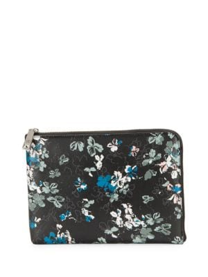 Rio Floral-Print Leather Tech Clutch by Ivanka Trump