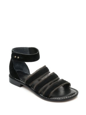 Theo Suede Chain Detail Sandals by Bernardo