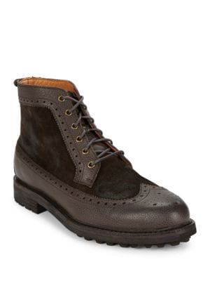 Nickson Suede and Leather Boots by Polo Ralph Lauren