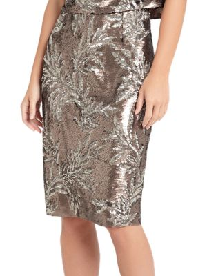 Patientia Sequined Pencil Skirt by Phase Eight