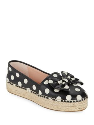 Linds Leather Espadrilles Platform Flats by Kate Spade New York