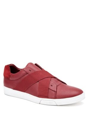 Baku Tumbled Leather Sneakers by Calvin Klein