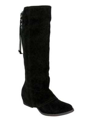 Arctic Solstice Suede Tall Shaft Boots by Naughty Monkey