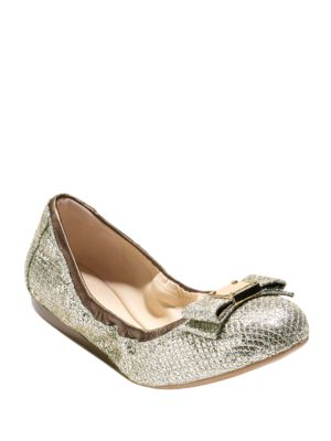 Buy Tali Bow Metallic Glitter Ballet Flats by Cole Haan online