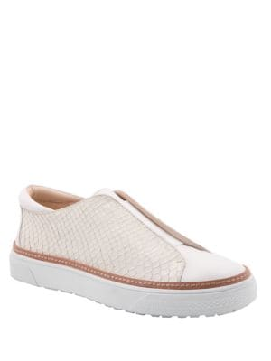 Minx Leather Slip-On Sneakers by Delman
