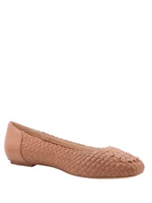 Frani Basket Weave Leather Ballet Flats by Delman