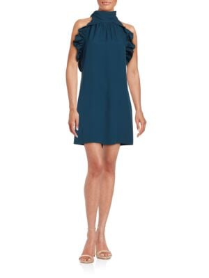 Halter Ruffled A-Line Dress by Rachel Zoe