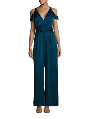 Satin Cold-Shoulder Jumpusit by Rachel Zoe