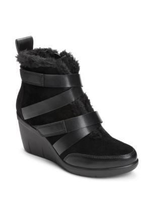 Buy Interview Faux Fur Trimmed Suede Ankle Boots by Aerosoles online