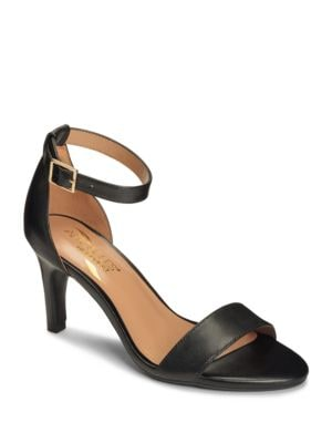 Laminate Leather Ankle Strap Sandals by Aerosoles