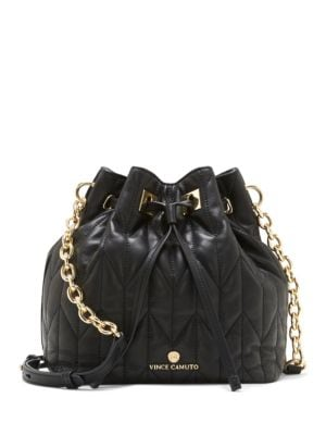 Klem Quilted Bucket Bag by Vince Camuto