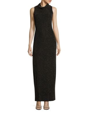 Sleeveless Cowlneck Column Gown by Aidan Aidan Mattox