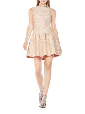 Ashlie Cloque Jacquard Fit and Flare Dress by BCBGMAXAZRIA