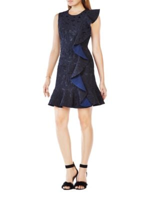 Dede Ruffled Dress by BCBGMAXAZRIA