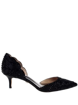 Ginny Point Toe Embellished D'Orsay Pumps by Badgley Mischka