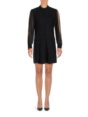 Arden Long Sleeve A-Line Dress by Cynthia Steffe