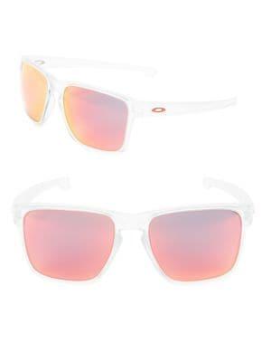 Sliver XL 57mm Matte Clear Wayfarer Sunglasses by Oakley