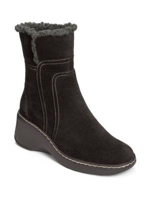 Side Kick Fleece Trim Suede Boots by Aerosoles