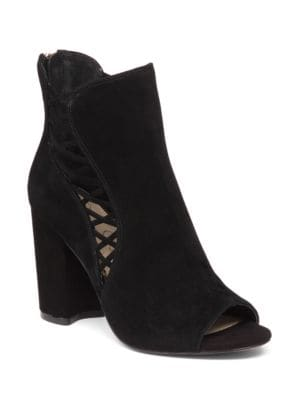 Millo Kid Suede Crisscross Ankle Boots by Jessica Simpson