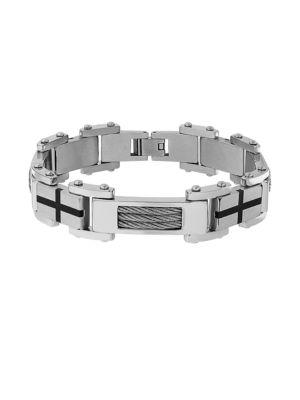 Cubic Zirconia Cable Link Bracelet 500048531354