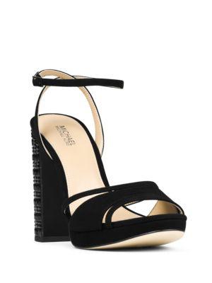 Yoonie Kid Suede Ankle Strap Platform Sandals by MICHAEL MICHAEL KORS