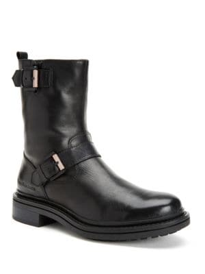 Kris Brushed Calf Leather Boots by Calvin Klein