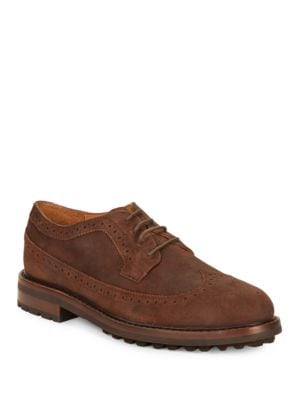 Nyles Leather Wingtip Oxfords by Polo Ralph Lauren