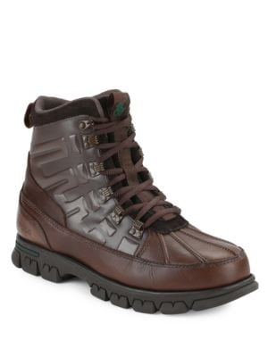 Delton Lace-Up Waterproof Leather Boots by Polo Ralph Lauren