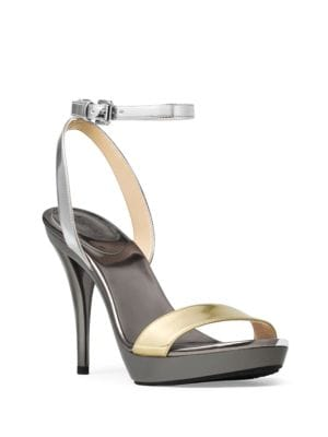 Catarina Mirror Shine Platform Sandals by MICHAEL MICHAEL KORS