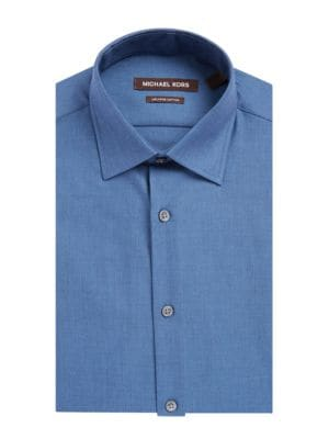 Insignia Regular Fit Cotton Dress Shirt by Michael Kors