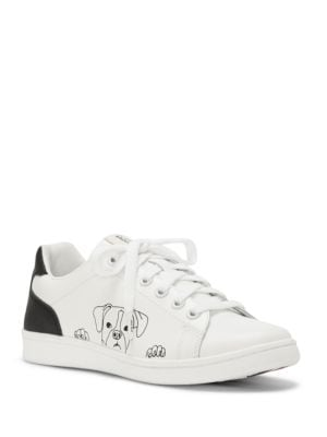Chap Dog Print Leather Sneakers by Ed Ellen Degeneres