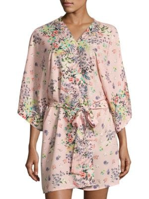 Floral Wrap Robe by Flora Nikrooz