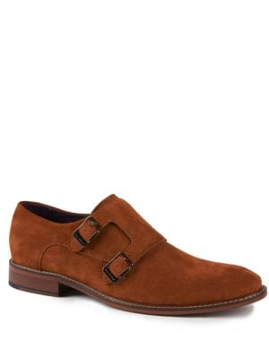 Kartor 3 Suede Double Monk-Strap Shoes by Ted Baker London