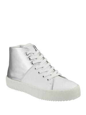 Buy Dylan Colorblock Leather High-Top Sneakers by KENDALL + KYLIE online