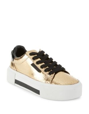 Tyler Leather Platform Sneakers by KENDALL + KYLIE