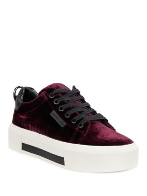 Tyler Velvet Lace-Up Sneakers by KENDALL + KYLIE
